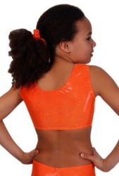 Crop Top / Bustier, Hologramm, orange – Bild 2